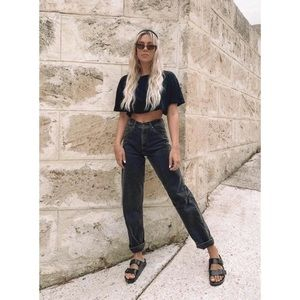 Vintage Levis 505 Black Straight Tapered Mom Jeans